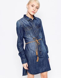 Only Denim Shirt Dress Medium Blue