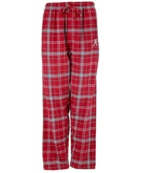 Concepts Sport Men's Alabama Crimson Tide Bleacher Flannel Sleep Pants