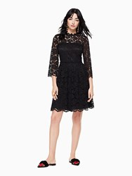 Kate Spade Poppy Lace Fit And Flare Dress Black