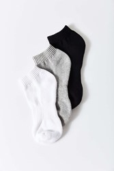 Urban Outfitters Athletic No Show Ankle Sock 3 Pack Multi
