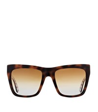 Dolce And Gabbana Polka Dot Trim Square Sunglasses Female