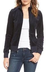 Juicy Couture Women's Fairfax Velour Track Jacket Regal
