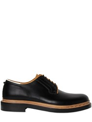 Valentino Unfinished Leather Derby Lace Up Shoes