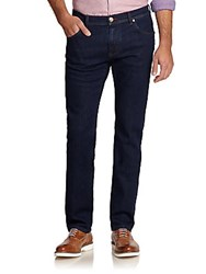 Corneliani Dark Wash Straight Leg Jeans Indigo