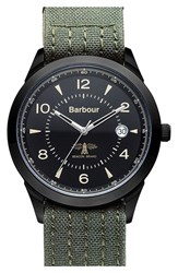 Men's Barbour 'Heritage' Fabric Strap Watch 42Mm