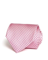The Men's Store At Bloomingdale's Micro Grid Classic Tie Pink
