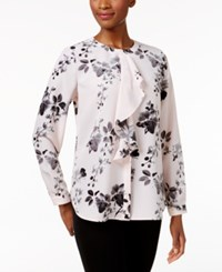 Charter Club Floral Print Ruffled Blouse Only At Macy's Misty Pink Combo