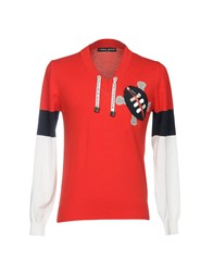 Frankie Morello Sweaters Red