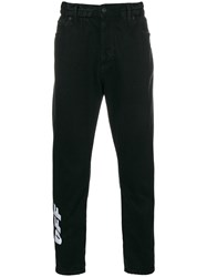 Off White Low Crotch Jeans Black