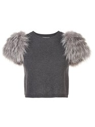 Alice Olivia Ciara Sweater Grey