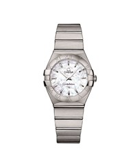 Omega Constellation Mother Of Pearl Watch Unisex Silver