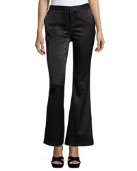 Romeo And Juliet Couture Snake Embossed Faux Leather Pants Black