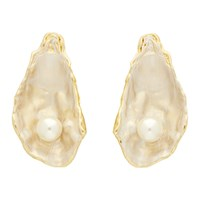 Burberry Gold Oyster Earrings