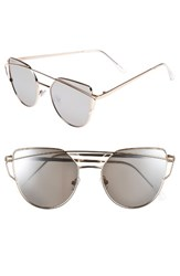 Women's Bp. 51Mm Thin Brow Angular Aviator Sunglasses