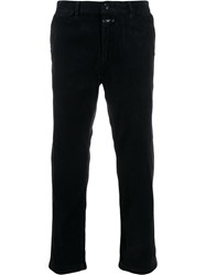 Closed Straight Fit Corduroy Trousers Blue