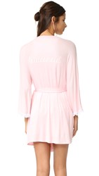 Honeydew Intimates Bridesmaid Robe Blush White