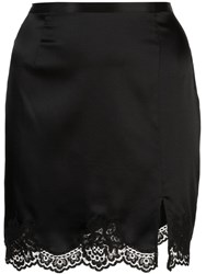 Fleur Du Mal James Lace Slip Skirt Black