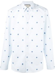 Gucci Floral Embroidered Shirt White