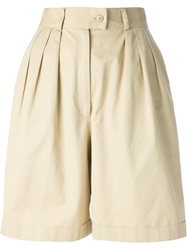 Kenzo Vintage High Waisted Shorts Nude And Neutrals