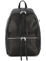 Rick Owens Zipped Backpack Black