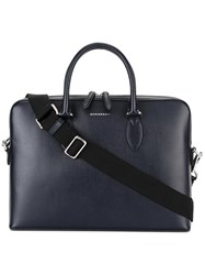 Burberry The Barrow Briefcase Blue