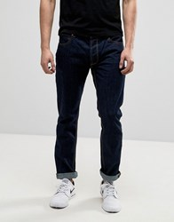 Bellfield Raw Tapered Fit Jeans Blue