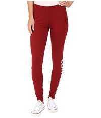 Converse Core Wordmark Leggings Red Block Women's Casual Pants