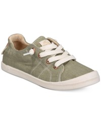 Roxy Bayshore Lace Up Sneakers Women's Shoes Olive