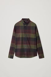 Cos Flannel Checked Shirt Green