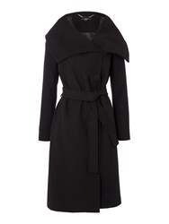 Therapy Belle Blanket Wrap Coat Black