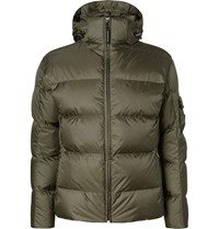 Bogner Simon D Suede Trimmed Quilted Ripstop Hooded Down Ski Jacket Green