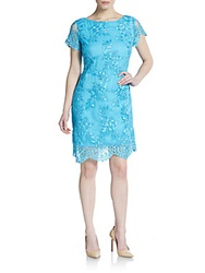 Alexia Admor Embroidered Lace Cap Sleeve Dress