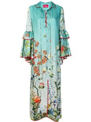 F.R.S For Restless Sleepers Long Printed Dress Green