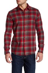 Volcom Hewitt Long Sleeve Modern Fit Flannel Shirt Red