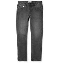 Officine Generale Washed Selvedge Denim Jeans Black