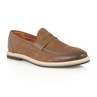Frank Wright Blyth Mens Slip On Loafers Brown