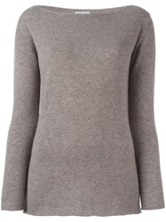 Fashion Clinic Boat Neck Jumper Nude And Neutrals