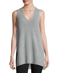 1.State Sleeveless V Neck Sweater Light Gray