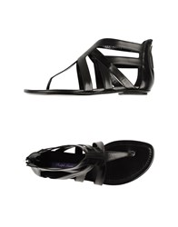 Ralph Lauren Collection Footwear Thong Sandals Women Black
