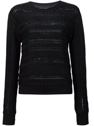 Maiyet Openwork Sweater Black