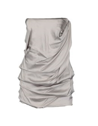 Elisabetta Franchi For Celyn B. Tube Tops Light Grey