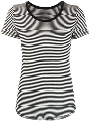 Majestic Filatures Striped T Shirt Black
