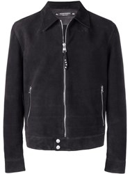 Alexander Mcqueen Knitted Back Jacket Black
