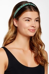 Cara Accessories Chevron Bead Stretch Headband Multi
