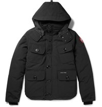 Canada Goose Selkirk Water Resistant Shell Hooded Down Parka Black