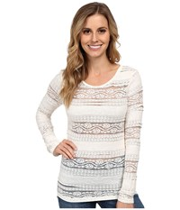 Ariat Floral Baselayer Whisper White 2 Women's Long Sleeve Pullover
