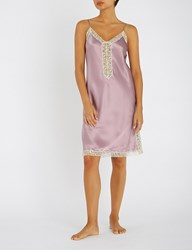 Nk Imode Seductive Silk Satin And Lace Chemise Retro Mauve