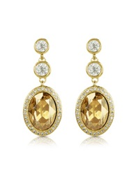 A Z Collection Triple Drop Earrings Gold