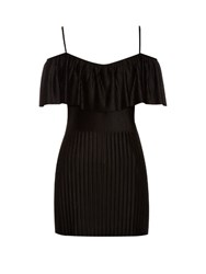 Givenchy Technical Pleated Jersey Top Black