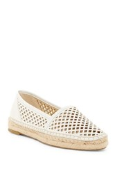 Frye Lee A Line Perforated Slip On Platform Flat White